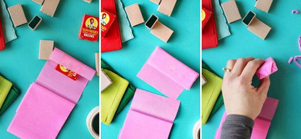 Decorazioni natalizie con la carta: ghirlanda di regali, parte 2, da ohhappyday.com