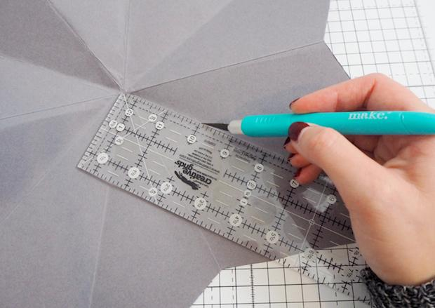 Decorazioni natalizie di carta: stella, parte 2, da madeupstyle.com