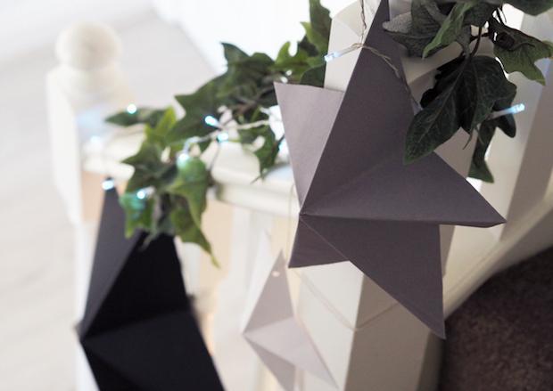 Decorazioni natalizie di carta: stella, da madeupstyle.com