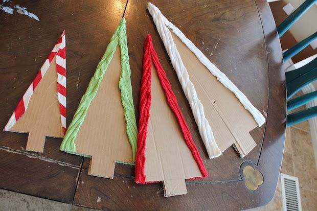 Addobbi natalizi con vecchi maglioni: alberelli, parte 1, da finditmakeitloveit.com