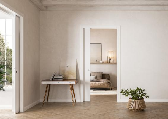 Porta scorrevole Unico Legno by Eclisse