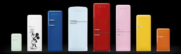 Gamma colori frigorifero vintage Smeg