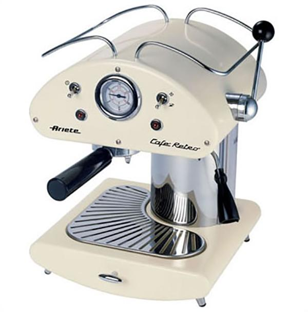 Macchina da caffè retrò panna Ariete vintage