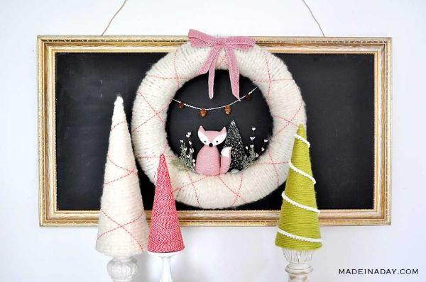 Albero con filato di lana Madeinaday.com