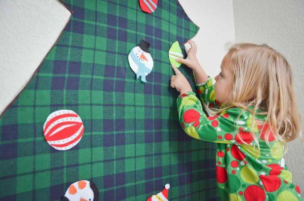 Albero di Natale fai da te in feltro Projectnursery.com