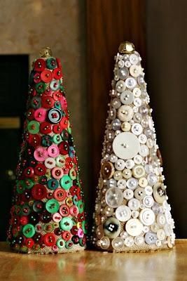 Alberello di Natale fai da te con bottoni