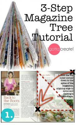 Albero con rivista - step 1 di igottacreate.blogspot.com