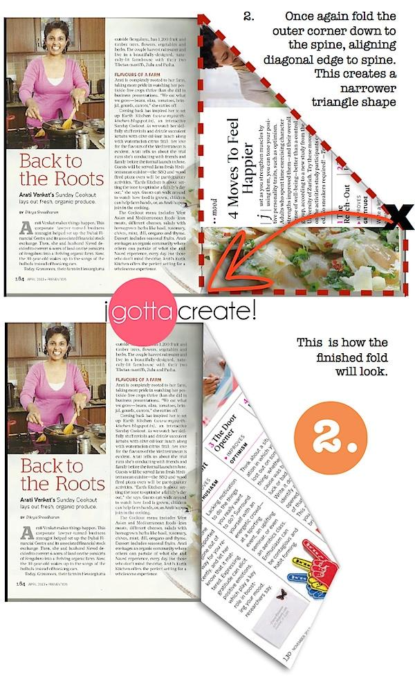 Albero con rivista - step 2 di igottacreate.blogspot.com