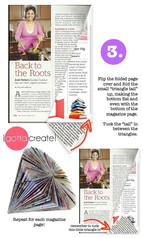 Albero con rivista - step 3 di igottacreate.blogspot.com