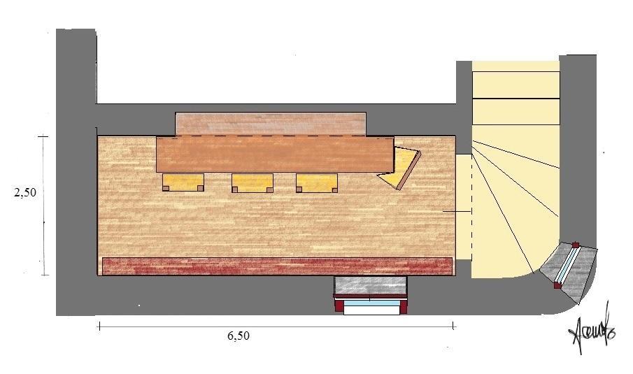 Cantina nel seminterrato di casa: pianta di progetto