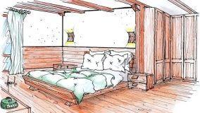 Soluzioni d'arredo per la camera da letto della casa di montagna