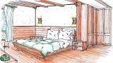 Camera da letto di montagna