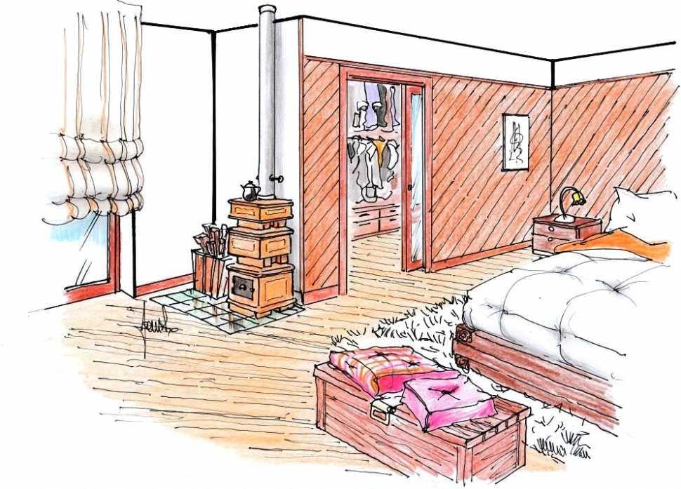 Arredamento rustico di montagna per camera da letto