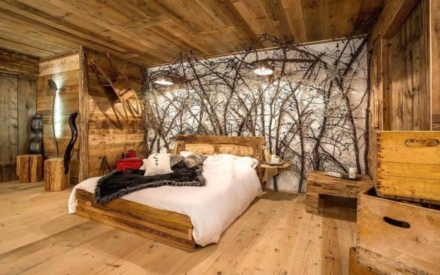 Camera da letto moderna di montagna - Falegnameria Hermann