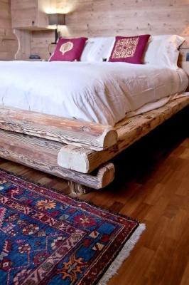 Letto in legno casa di montagna - Falegnameria Hermann