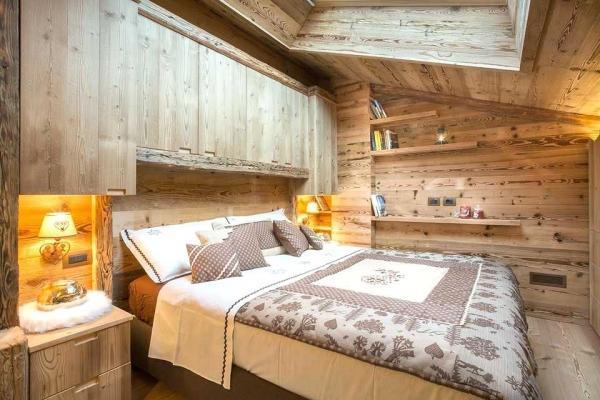 Camera da letto stile montagna Falegnameria Hermann