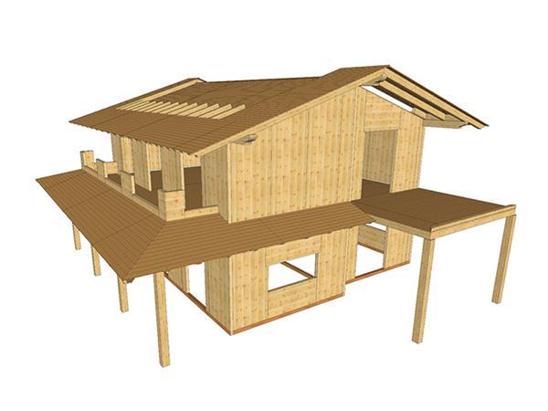 Casa legno Xlam - Sistem Costruzioni