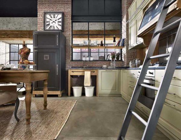 Cucina in stile industriale modello Nolita prodotta da Marchi Cucine