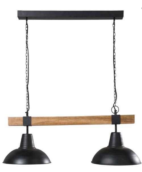 Lampada James di Maisons du Monde in metallo e legno di Mango