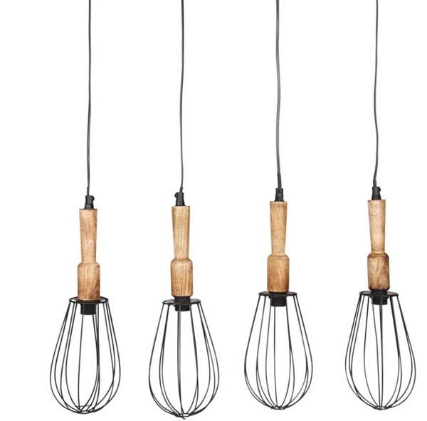 Lampada a sospensione industrial, Leontine Multiple by Maisons du Monde
