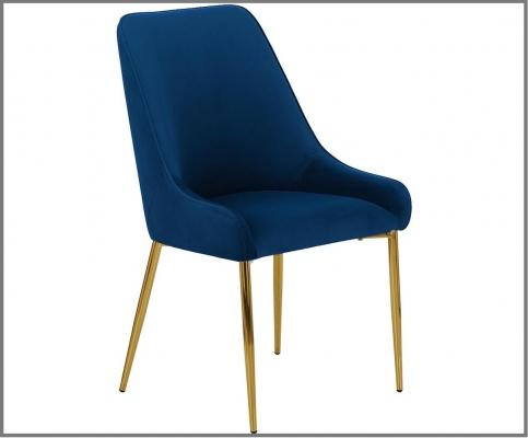 Sedia in velluto Ava in nuance Classic Blue - Design e foto by Westwing