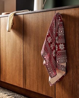 Collezione natalizia Zara Home: panni per cucina fantasia