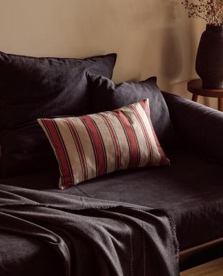 Collezione natalizia Zara Home: federa cuscino a righe