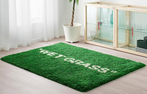 Tappeto a pelo lungo MARKERAD - Design by Ikea e Virgil Abloh