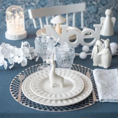 Tavola natalizia: bicchieri in vetro Floral - Maisons du Monde