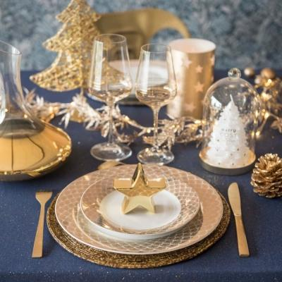 Piatto Art Deco e posate oro - Maisons du Monde