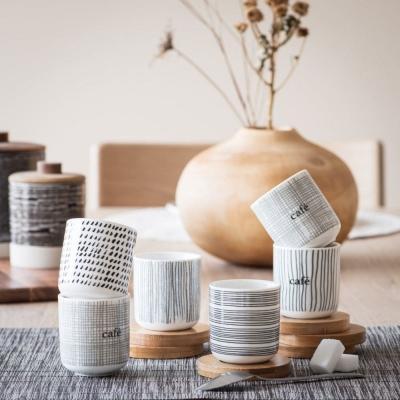 Set tazze e piattini in bambù Noe - Maisons du Monde
