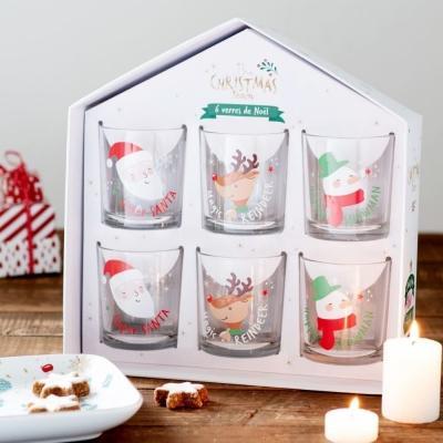 Set di 6 bicchieri con stampe a tema natalizio - Maisons du Monde