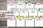Calendario floreale stampabile Papertraildesign.com