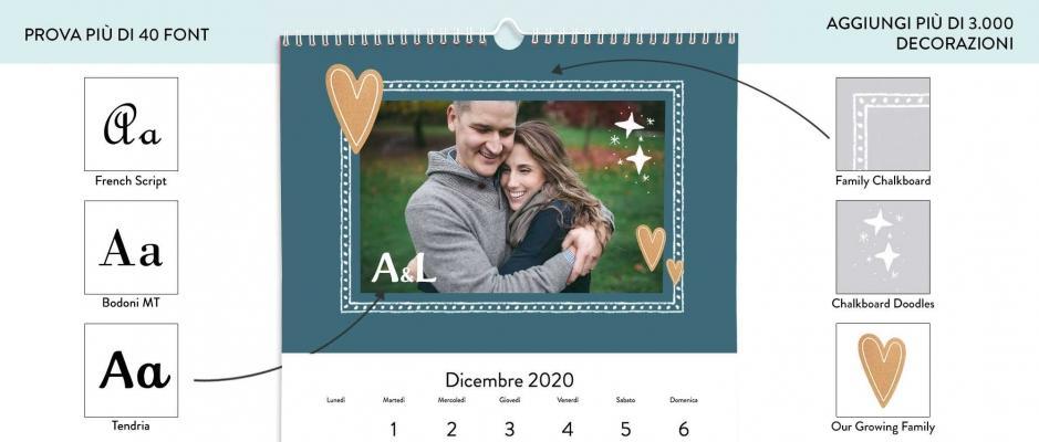 Calendario fotografico fai da te Snapfish