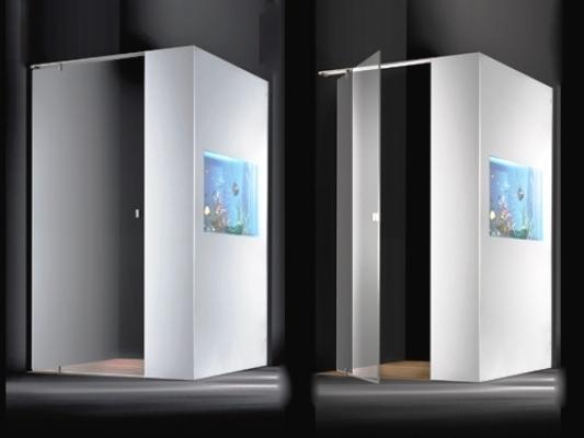 Acquario parete doccia Acquarium design Gianturco e Tessarollo