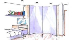 Idea di progetto per una versatile cabina armadio in cameretta
