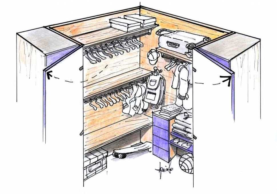 Arredo interno cabina armadio per cameretta