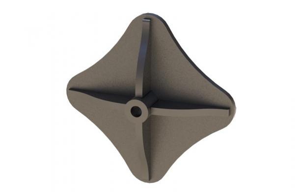 Capochiave a stella con piastra nervata di Contigiani&Giacomini