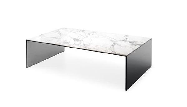 Tavolo in ceramica bianco Bridge di Calligaris