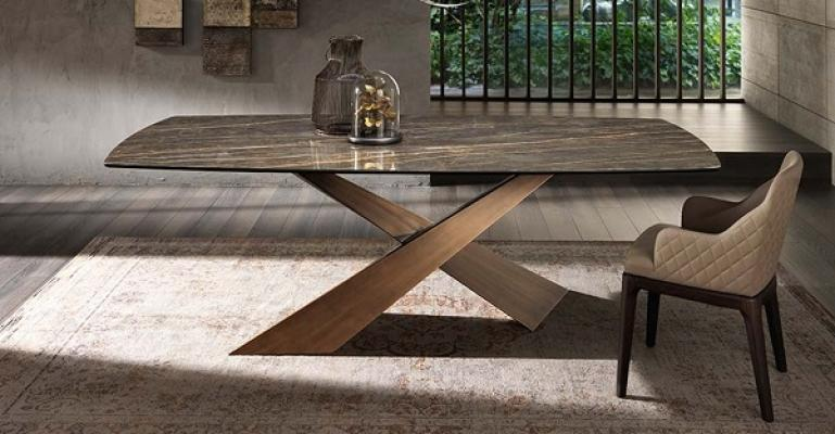 Tavolo in ceramica Living di Riflessi
