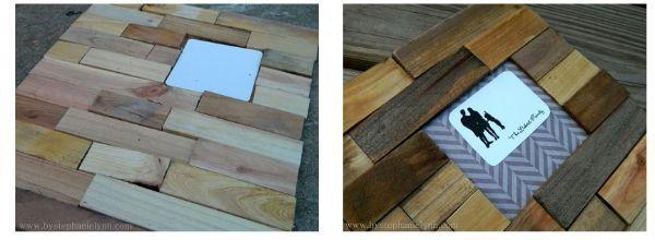 Secondo step cornice fai da te in legno Bystephanielynn.com