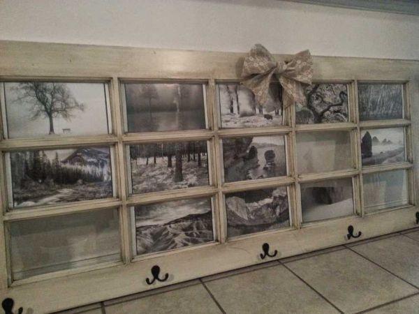 Come far diventare una vecchia porta un pannello portafoto Magsmade.blogspot.com