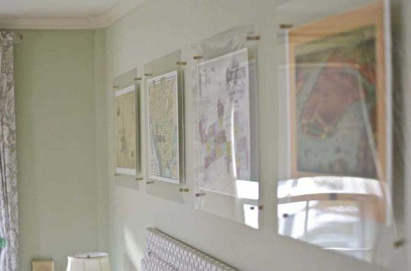 Cornici trasparenti in acrilico sospese Atcharlotteshouse.com