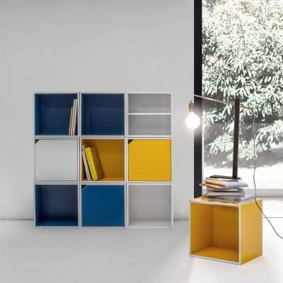 Libreria componibile con cubi e mensole - Foro by Deghishop.it