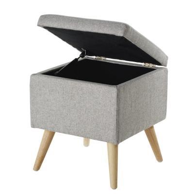 Pouf contenitore Ivan in legno di hevea - Design e foto by Maisons du Monde