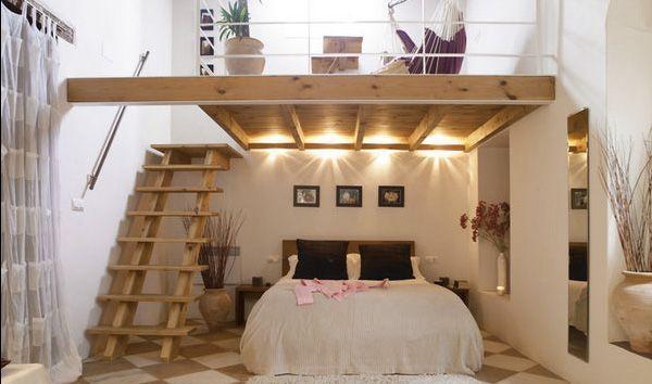 Camera da letto sotto il soppalco - Fonte foto: Pinterest