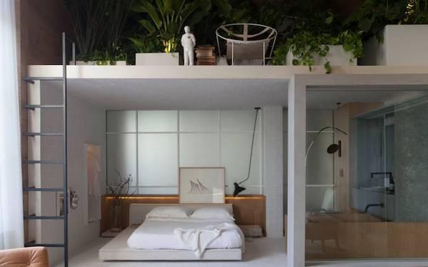 Soppalco come giardino domestico - Fonte foto: Pinterest