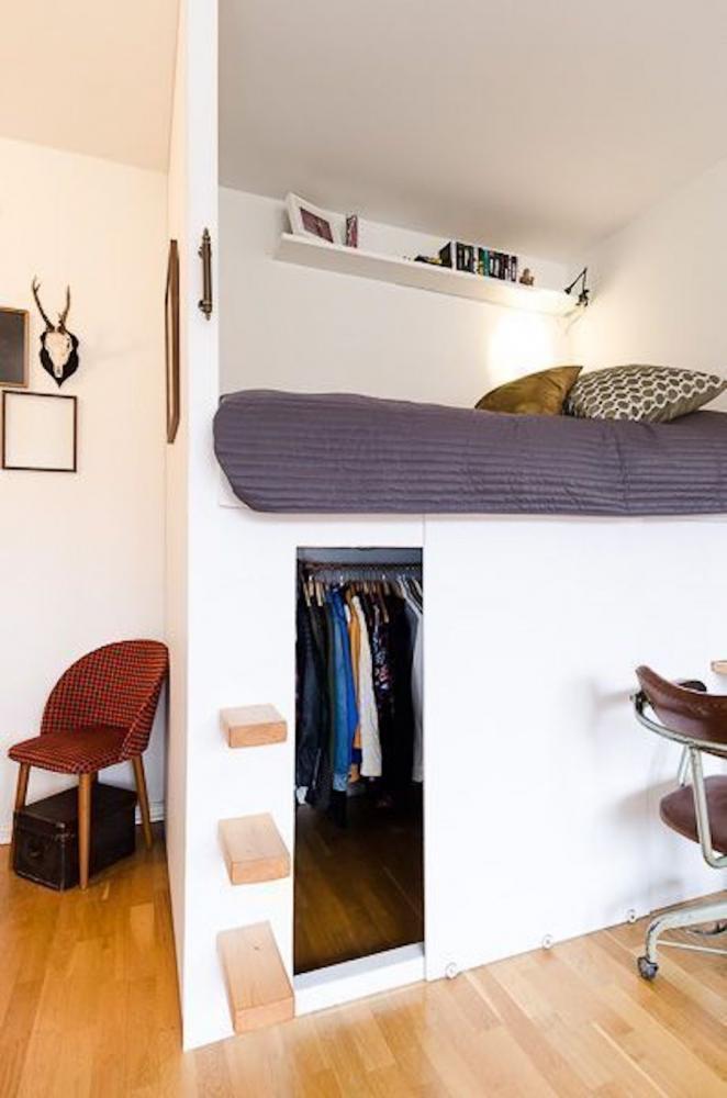 Camera da letto in soppalco - Fonte foto: Pinterest