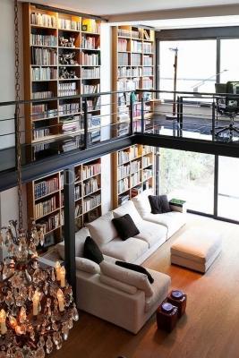 Libreria in soppalco - Fonte foto: Pinterest