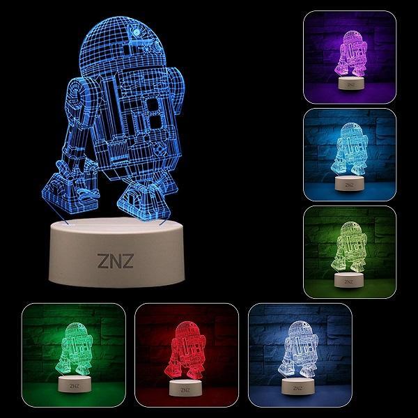 Lampada da notte a LED 3D di ZNZ